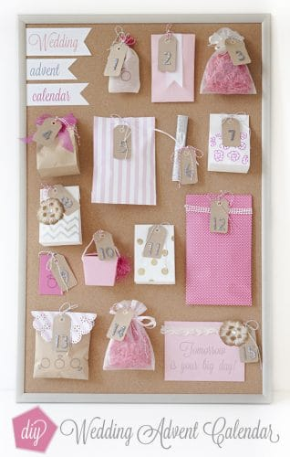 bridal shower gifts diy wedding advent calendar