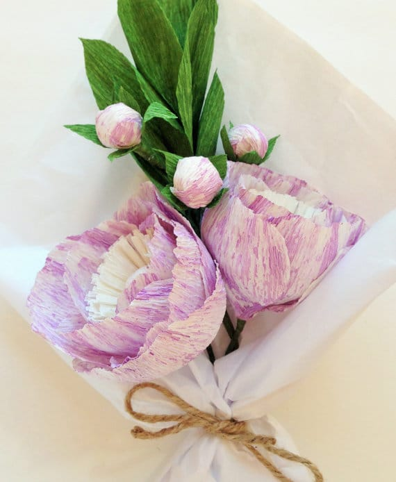 First Anniversary Gift Idea: Paper Flowers