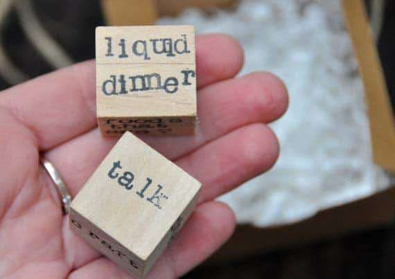 fun bridal shower gifts date dice