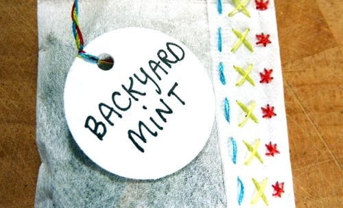 Gifts for Tea Lovers: Hand Stitched Tea Bags