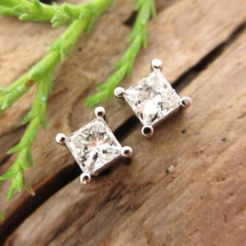 Tenth Wedding Anniversary - Diamond Stud Earrings