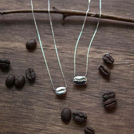 Gifts for Coffee Lovers - Whole Bean Necklace