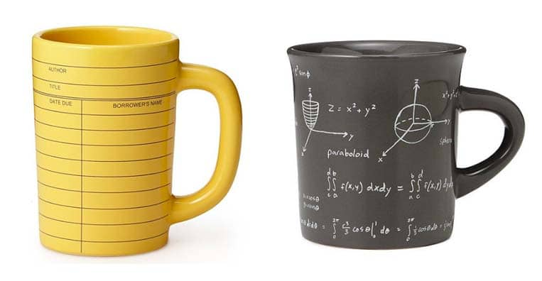 Gifts for Coffee Lovers - Library & Math Mugs