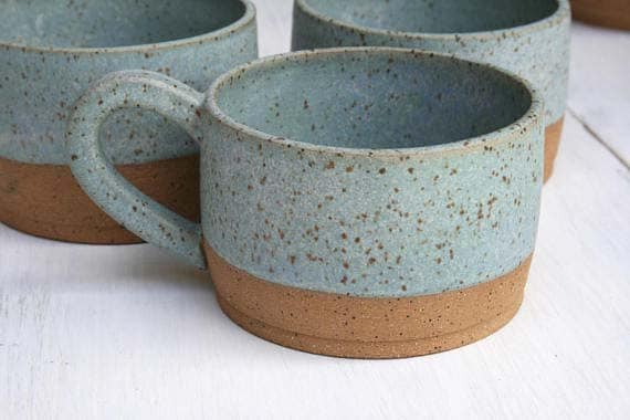Handmade Ceramic Coffee Mug - Speckled Latte