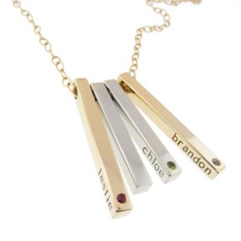 Name Necklace - Metal Pressions