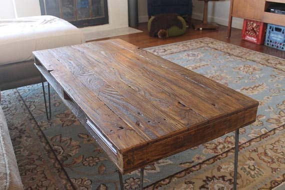 Reclaimed Wood Coffee Tables - The Newton