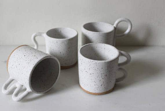 Handmade Ceramic Coffee Mugs - Crazy Handles