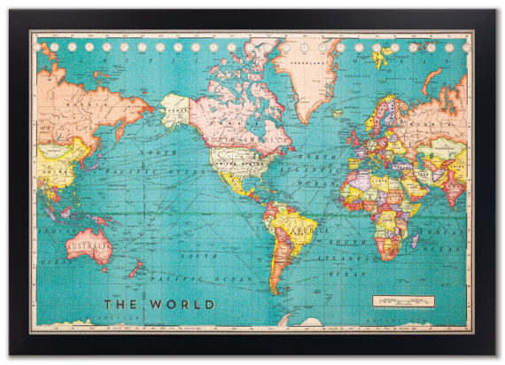 World travel map with pins 7 ways to track your travels world travel map with pins cork edition gumiabroncs Images