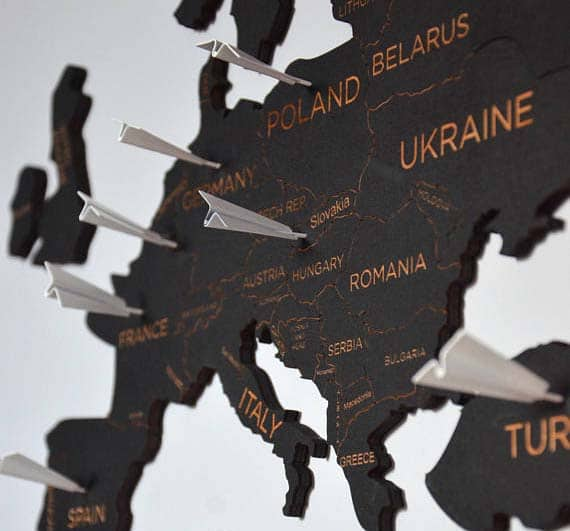 World Travel Map with Push Pins - Enjoy The Wood