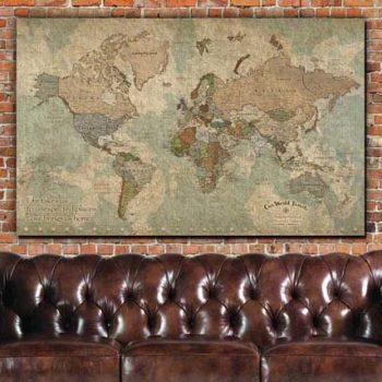 World Travel Map with Pins - Featured
