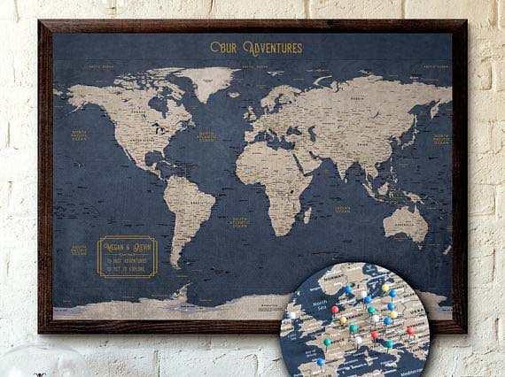 World travel map with pins 7 ways to track your travels world travel map with pins kr maps gumiabroncs Images