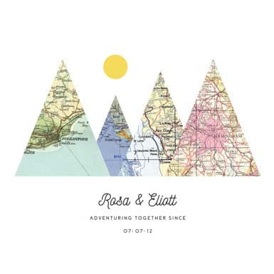 Gifts - Mountain & Maps Adventure Print