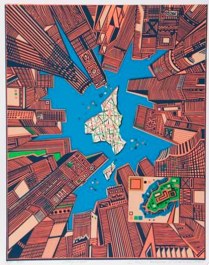 Contemporary Art Prints - City 378