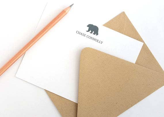 Cool Stationery For Him - Bear