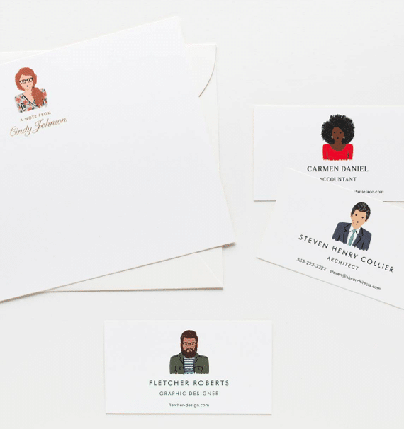 Cool Stationery for Him - Custom Portrait