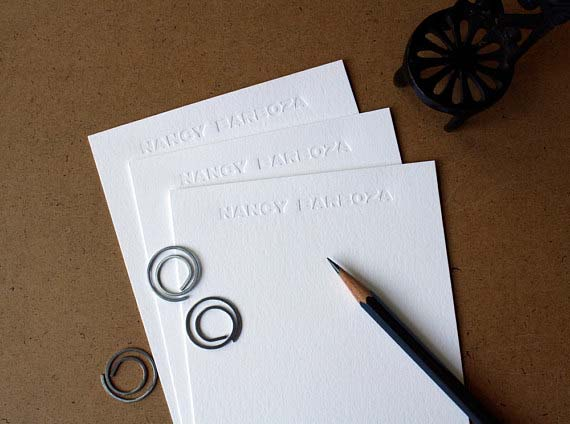 Cool Stationery for Him - Subtle Letterpress