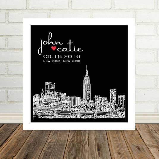 Housewarming Gifts - Framed Skyline Art