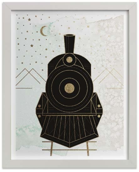 Kids Wall Art Prints - Night Train