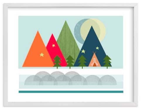 Kids Wall Art Prints - Gone Camping