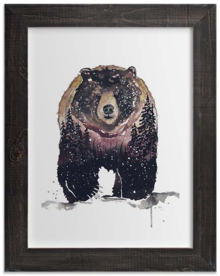 Kids Wall Art Prints - Nature Bear