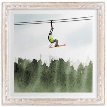 Kids Wall Art - Skiers & Boarders