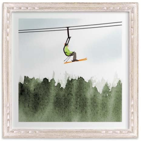 Kids Wall Art - Skiers & Boarders