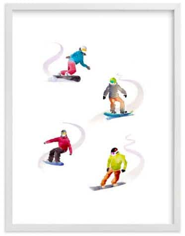 Kids Wall Art - The Boarders