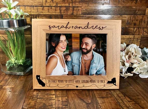 Long Distance Relationship Gifts Custom Frame