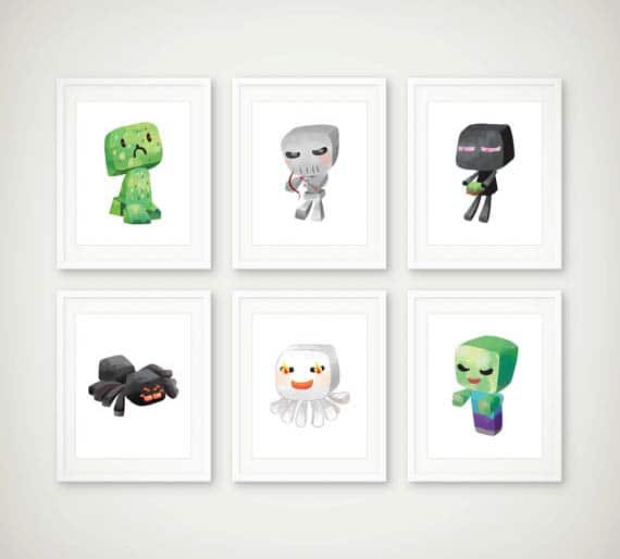 Minecraft Gifts - Cartoon Art Prints