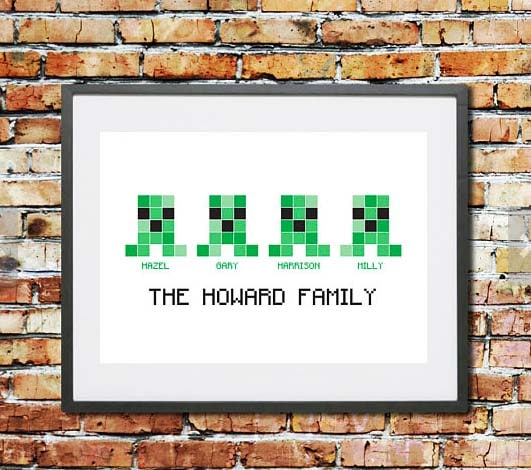 Minecraft Gifts - Custom Family Portrait