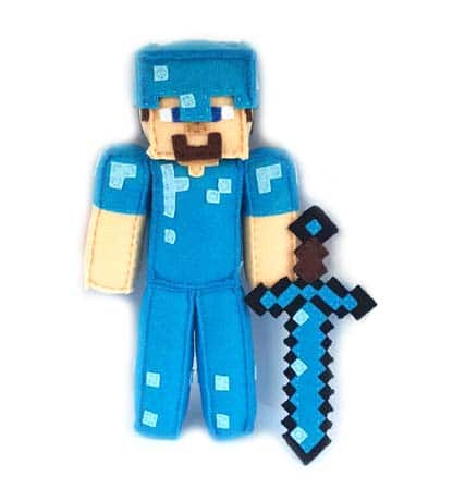 Minecraft Gifts - Diamond Steve Plushie