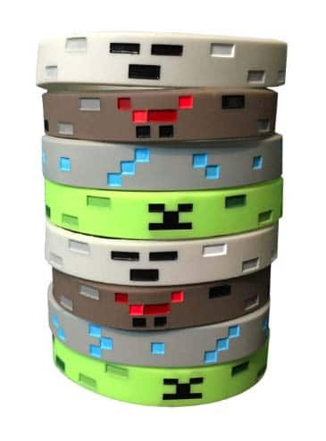 Minecraft Gifts - Pixelated Wrist Bands