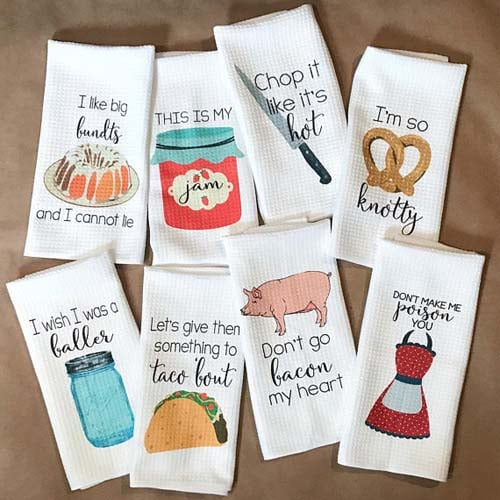 New Home Gifts - Punny Tea Towels