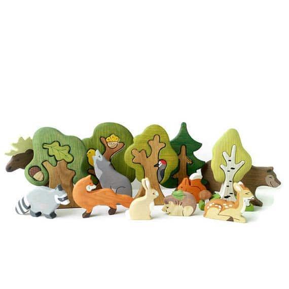 Woodland Creatures Toy Set