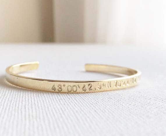 Long Distance Relationship Gifts - Coordinates Bracelet