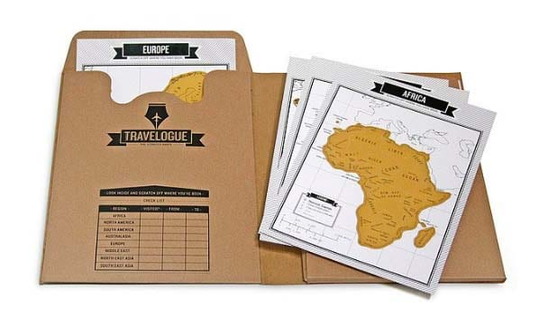 Long Distance Relationship Gifts - Scratch Travel Journal