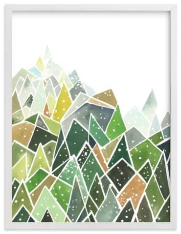 Natural World Art Prints - Landscape Triangles Dots