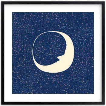 Nursery Wall Art - Celestial Moon