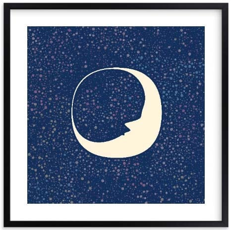Nursery Wall Art - Celestial Moon