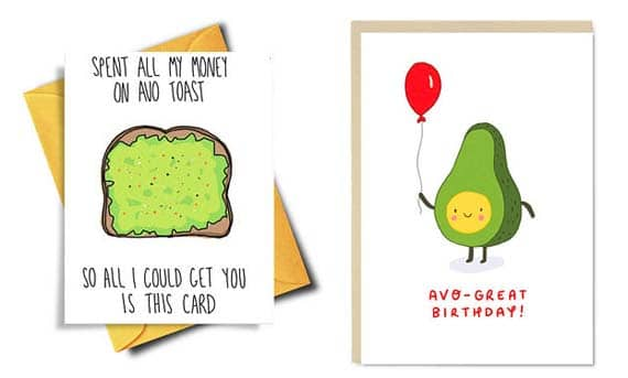 Gifts for Avocado Lovers - Greeting Cards