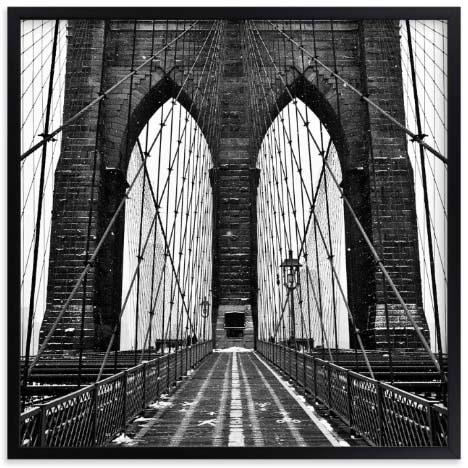 NYC Wall Art Prints - Snowing Bridge