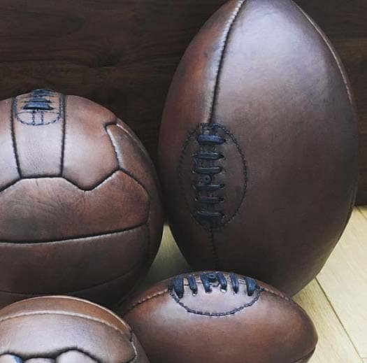 3rd Leather Anniversary Gifts - Vintage Football