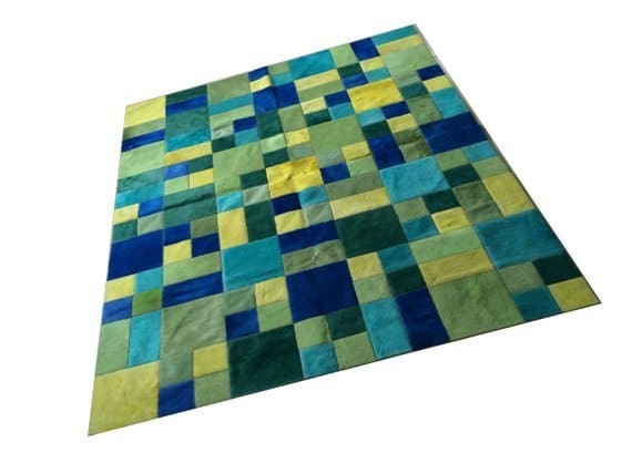 3rd Anniversary Gifts - Cowhide Patchwork Rug
